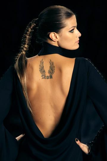 Татуировки детей у модели Виктория Сикрет Изабели Фонтана