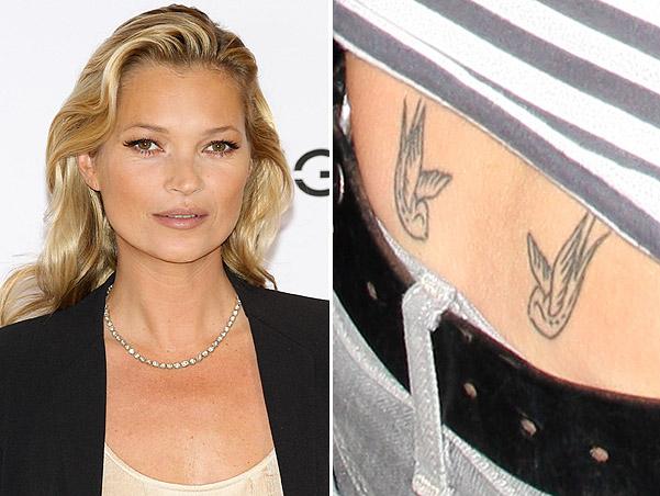 Самая дорогая татуировка в мире у Кейт Мосс