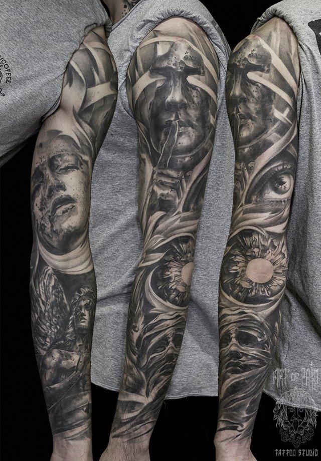 сайте тату фото эскиз рукава самый трудный