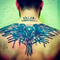 Татуировка по Игре престолов – Valar Morghulis