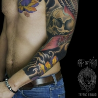 Время для тату-рукава: количество сеансов