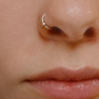 Фото пирсинга носа с правой стороны