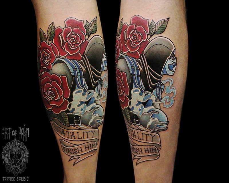 Татуировка мужская олд скул на предплечье саб зиро