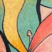 Татуировка женская акварель на икре хамелеон