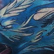 Татуировка мужская акварель на бицепсе волк