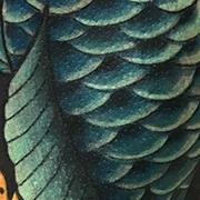 Татуировка мужская япония на плече карп