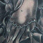 Татуировка мужская Black&Grey на плече ангел