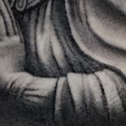 Татуировка мужская Black&Grey на руке ангел