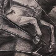 Татуировка мужская Black&Grey на груди дракон