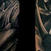 Татуировка мужская Black&Grey на икре Джордан