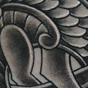 Татуировка мужская Black&Grey на плече кельтика