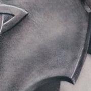 Татуировка мужская Black&Grey на плече латы