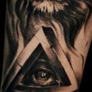 Татуировка мужская Black&Grey на предплечье лев