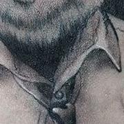 Татуировка мужская Black&Grey на предплечье панда