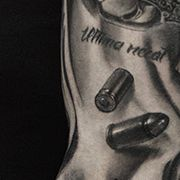 Татуировка мужская чикано рукав часы
