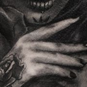 Татуировка мужская чикано на плече муэрте