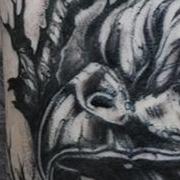 Татуировка мужская графика на плече орел