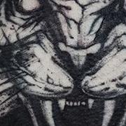 Татуировка мужская графика на груди тигр