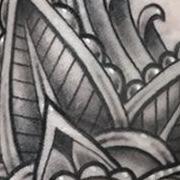 Татуировка женская графика на запястье узор