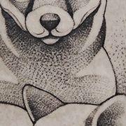 Татуировка мужская графика на икре животные