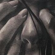 Татуировка мужская хорор на плече лицо
