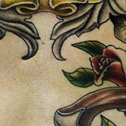 Татуировка мужская нью скул на груди лиса