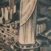 Татуировка мужская реализм на предплечье Иисус