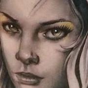 Татуировка мужская реализм на икре девушка