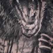 Татуировка мужская реализм на плече медведь