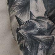 Татуировка мужская реализм рукав воин