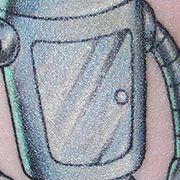 Татуировка женская олд скул на предплечье мультфильмы