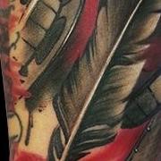Татуировка мужская треш полька на предплечье часы