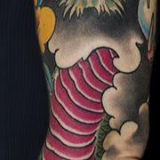 Татуировка женская япония рукав дракон