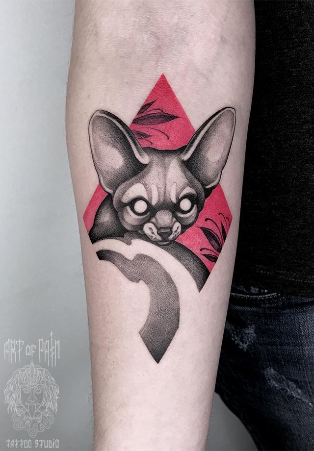 татуировка мужская дотворк на предплечье фенек – Мастер тату:
