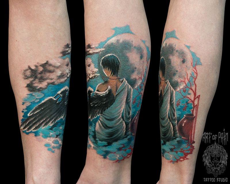 Татуировка женская фентези на предплечье ангел – Мастер тату: