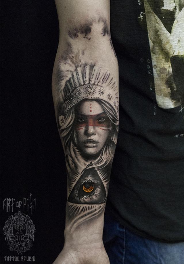 Татуировка мужская чикано на предплечье скво – Мастер тату: Слава Tech Lunatic