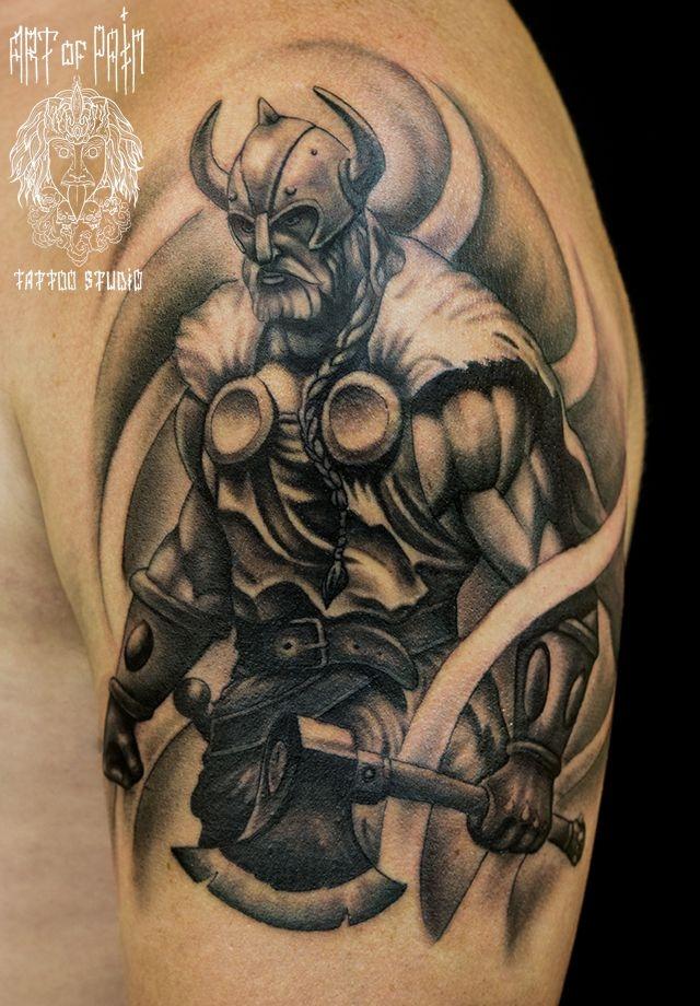 Тату викингов на плече мужские